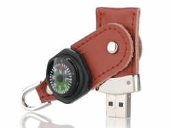 Compass Leather Flash Disk Funny