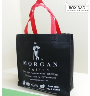 BOX BAG 28 X 29 BLACK TALI MERAH  large2