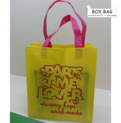 BOX BAG 28 X 29 X 10 YELLOW TALI PINK  large2