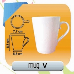 MUG KERAMIK V DECAL