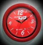 Souvenir jam promosi telkomsel merah 30cm
