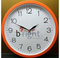 Jam Dinding Promosi Ring Orange 31cm