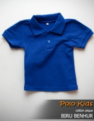POLO KIDS COTTON PIQUE BIRU BENHUR SIZE S