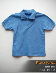 POLO KIDS CATTON PIQUE BIRU MUDA SIZE S
