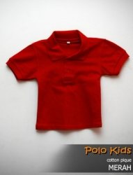 POLO KIDS COTTON PIQUE MERAH SIZE S