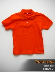 POLO KIDS CATTON PIQUE ORANGE SIZE M