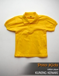 POLO KIDS CATTON PIQUE KUNING KENARI SIZE L