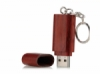 Red wooden keychain pen drive  medium