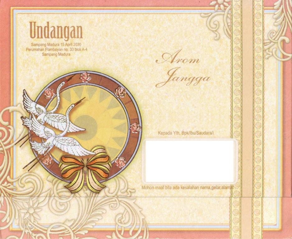 Image Result For Kartu Undangan Pernikahan Blangko Mm