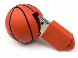 USB RUBBER SHAPE BASKETBALL 4GB