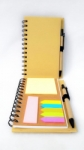Notebook Polos Import set pen and penanda buku