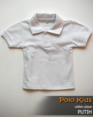 kaos polo KIDS PUTIH  large2