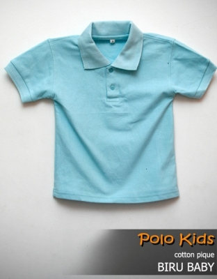 kaos polo KIDS BIRU BABY  large2