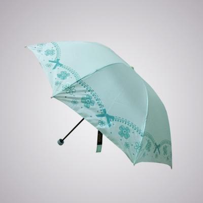 large2 Grosir payung lipat pita Fatico biru hijau