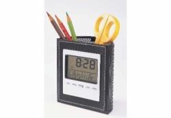 Calendar Penholder Clock